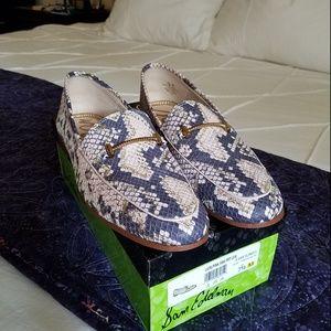 Sam Edelman pink, grey snake Lior loafers,  sz 7.5